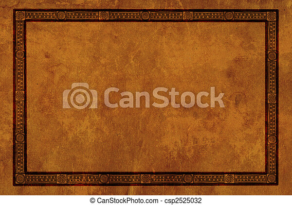 Frame with American Indian national patterns - csp2525032