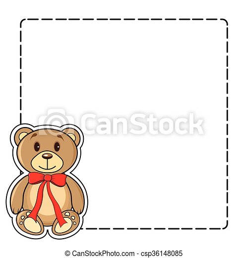 Frame with bears in the vector - csp36148085