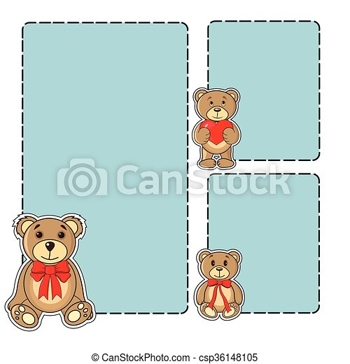 Frame with bears in the vector - csp36148105