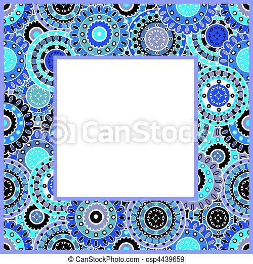 Frame with blue motifs - csp4439659