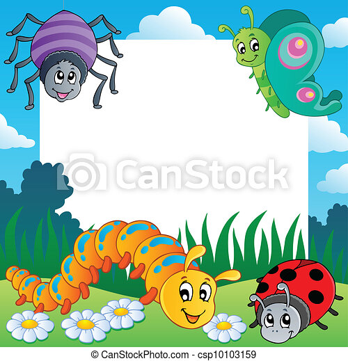 Frame with bugs theme 1 - csp10103159