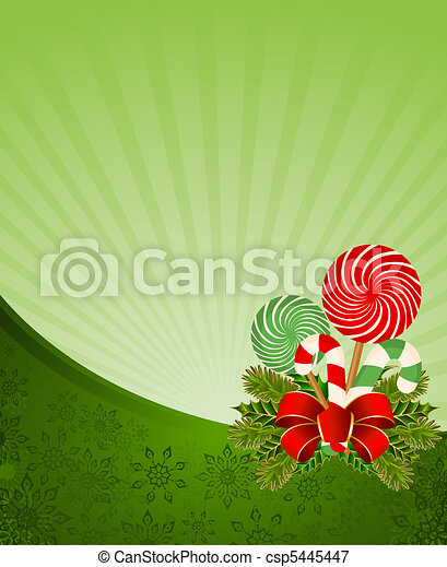 frame with candy cane  - csp5445447