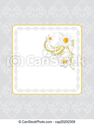 Frame with daffodils - csp20202309