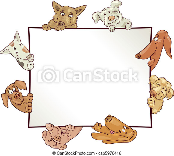 frame with dogs - csp5976416