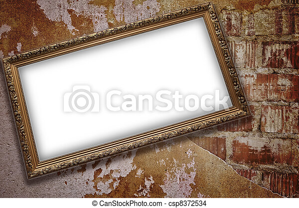 Frame with emty blank - csp8372534