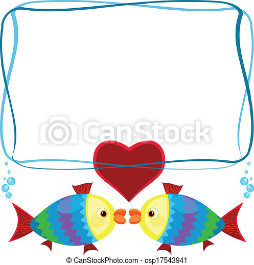 Frame with fish  - csp17543941