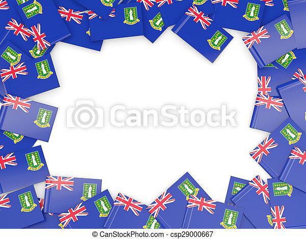 Frame with flag of virgin islands british - csp29000667