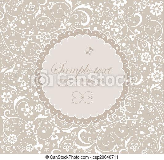 Frame with floral design - csp20640711