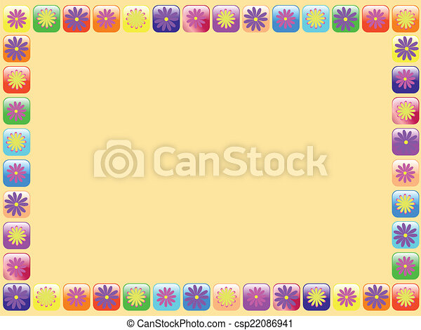 frame with flowers - csp22086941