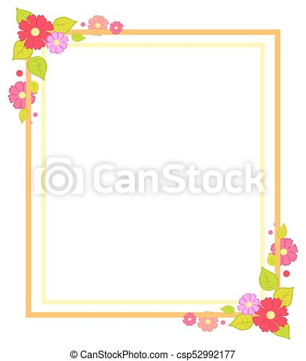 Frame with flowers summer or spring season concept. Frame with ...