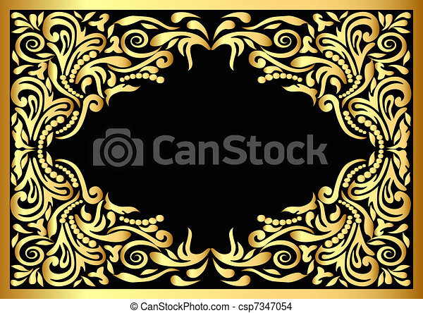 frame with gold pattern  - csp7347054