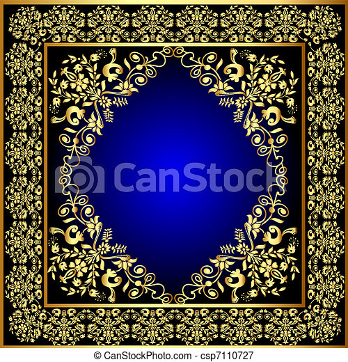 frame with gold pattern - csp7110727