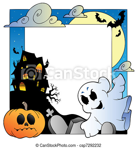 Frame with Halloween topic 1 - csp7292232