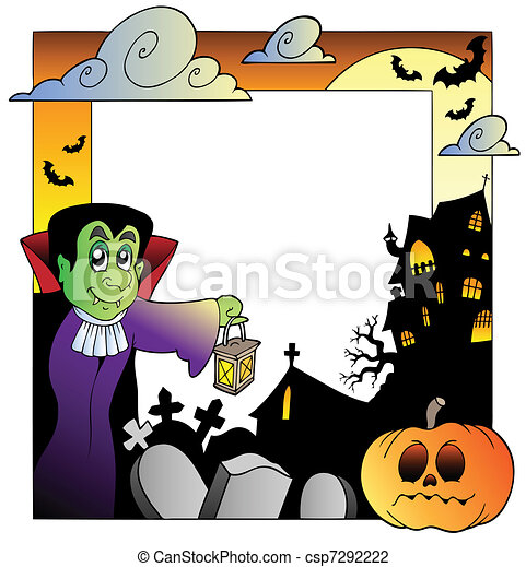 Frame with Halloween topic 2 - csp7292222