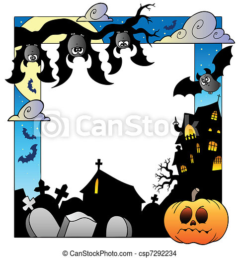 Frame with Halloween topic 5 - csp7292234