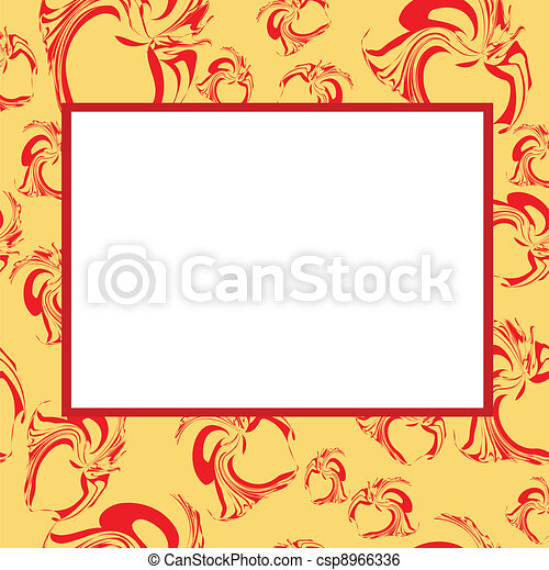 Frame with hearts - csp8966336