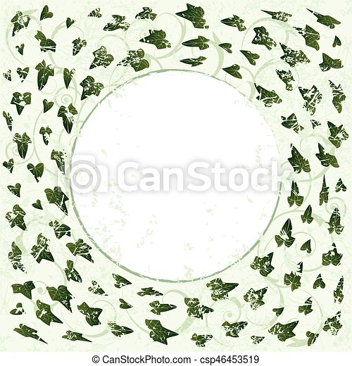frame with ivy - csp46453519