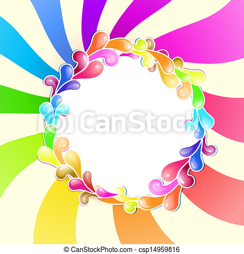 Frame with jelly shapes over colorful spiral .