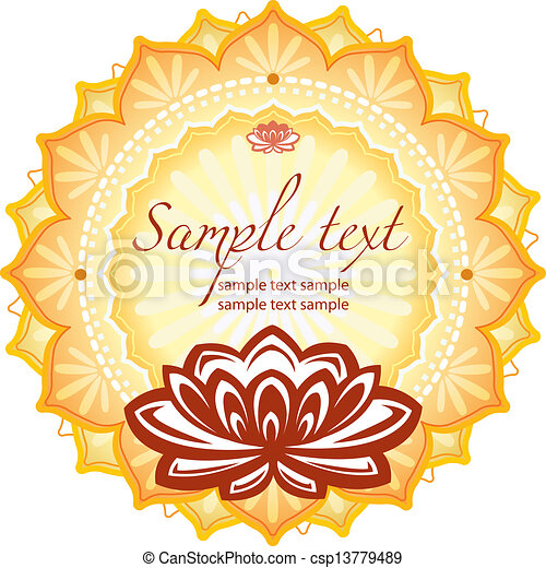 Frame with lotus - csp13779489