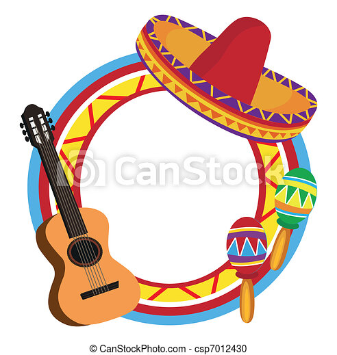 Frame with Mexican Symbols  - csp7012430