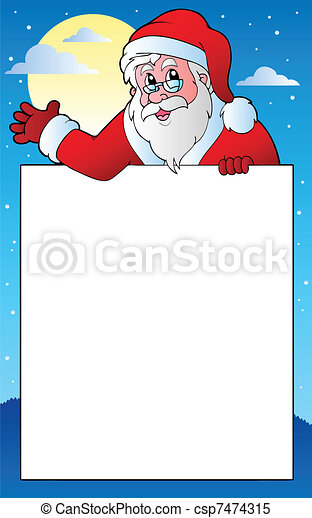 Frame with santa claus theme 1 - vector illustration.
