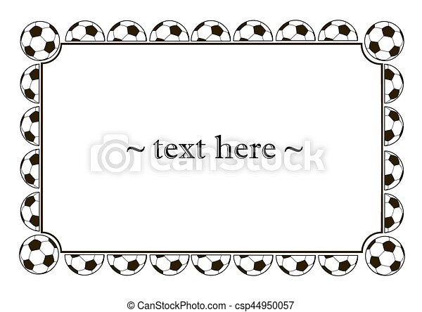 Frame with soccer balls on a white background. vector... clipart ...