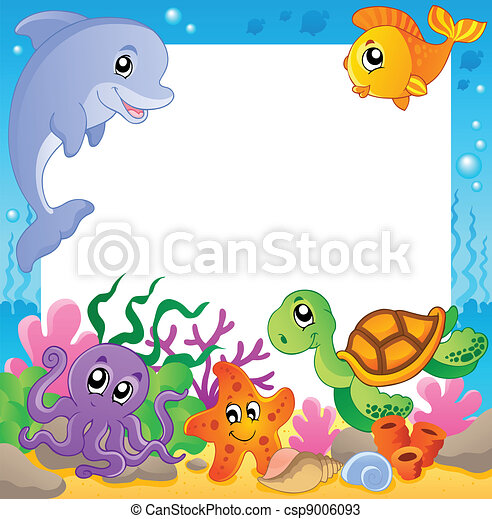 Frame with underwater animals 1 - csp9006093