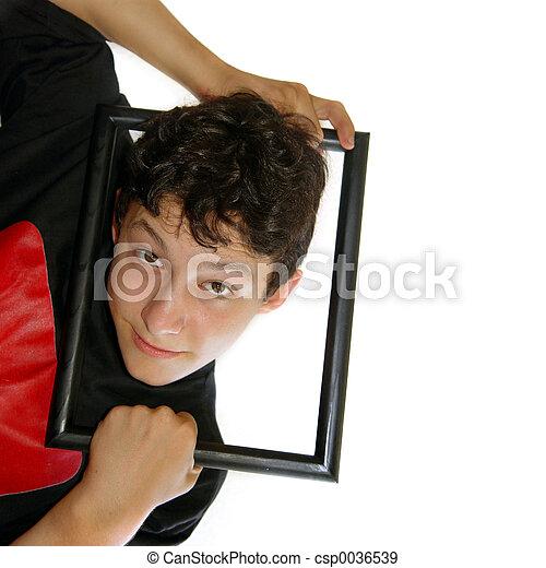 Framed boy - csp0036539