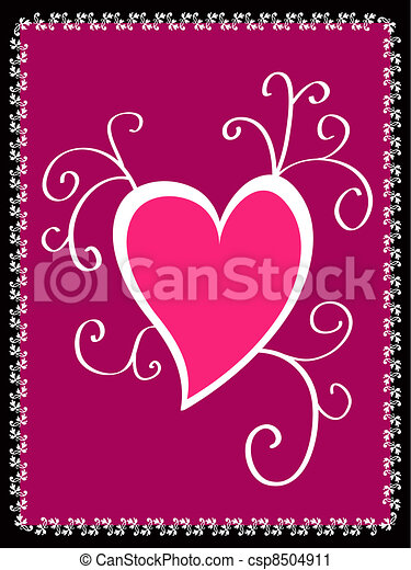 Pink framed heart clipart - Search Illustration, Drawings and Vector ...