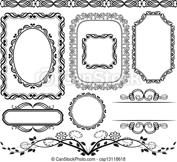frames and borders - csp13118618