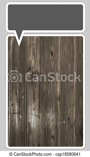 frames for text with wood pattern - csp18580641