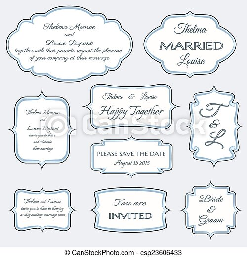 frames for wedding invitation cards - csp23606433