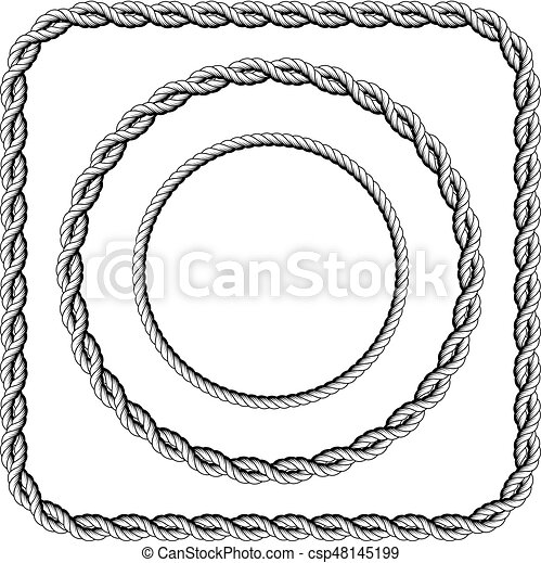 Frames of twisted rope with rounded corners - csp48145199