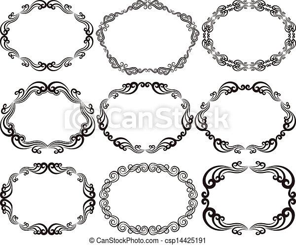 frames oval - csp14425191