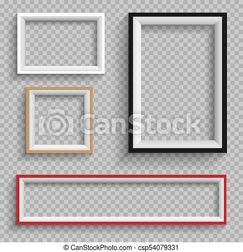 Frames set on transparent background. Modern frame furniture design ...