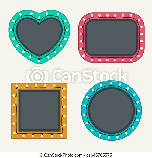 Frames set with bulbs - csp45765575