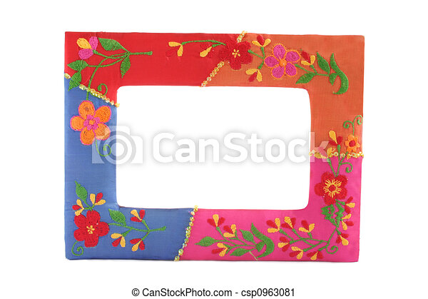 Framework. Beautiful frame with colorful floral decoration.