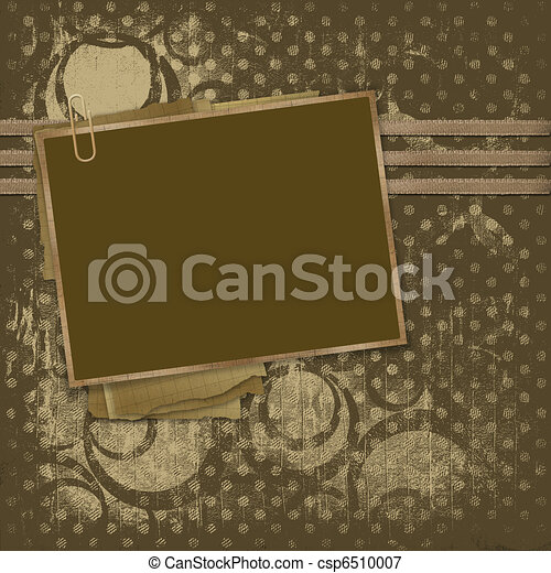 Framework for photos on the abstract background - csp6510007