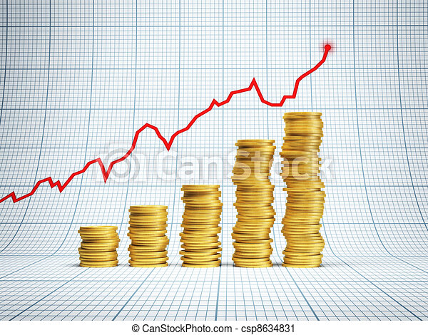 framgångsrik, investering - csp8634831