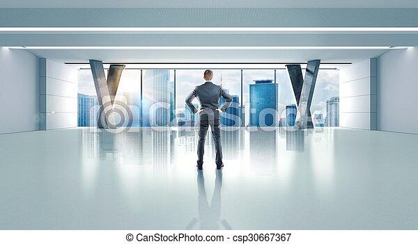 framgångsrik, kontor, man - csp30667367