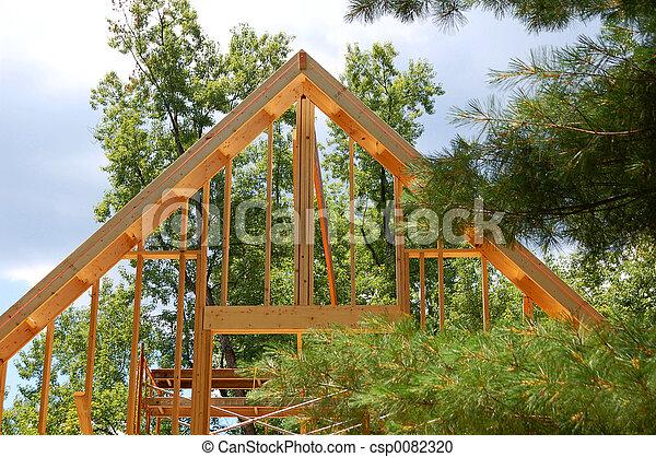 Framing New House - csp0082320