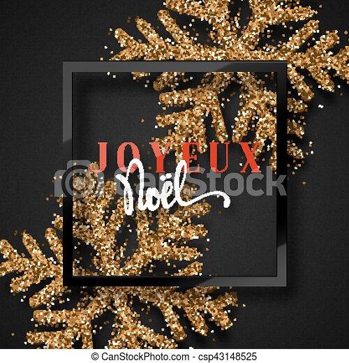 Feliz Navidad. Inscripción francesa. Joyeux noel. - csp43148525