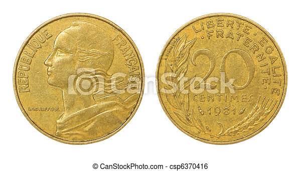 franc, mynt, retro - csp6370416