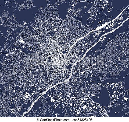 France, carte ville, limoges, haute-vienne. France ...