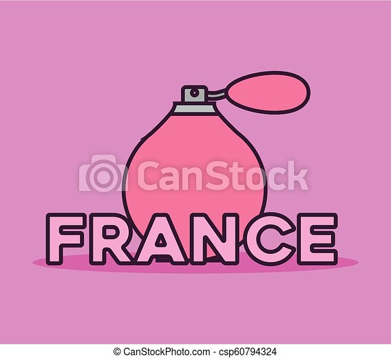 france culture card with fragrance bottle - csp60794324