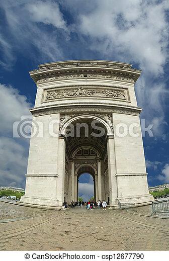 france., de, 弧, triomphe, パリ - csp12677790