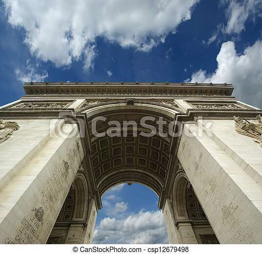 france., de, 弧, triomphe, パリ - csp12679498