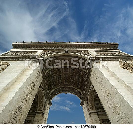 france., de, 弧, triomphe, パリ - csp12679499