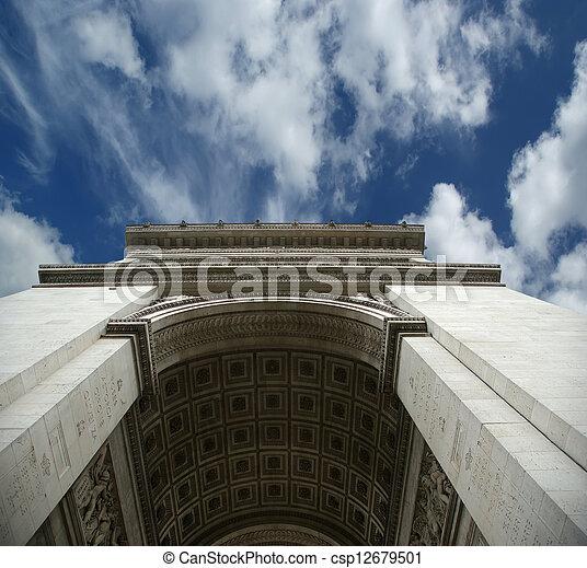 france., de, 弧, triomphe, パリ - csp12679501