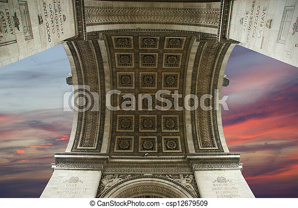 france., de, 弧, triomphe, パリ - csp12679509